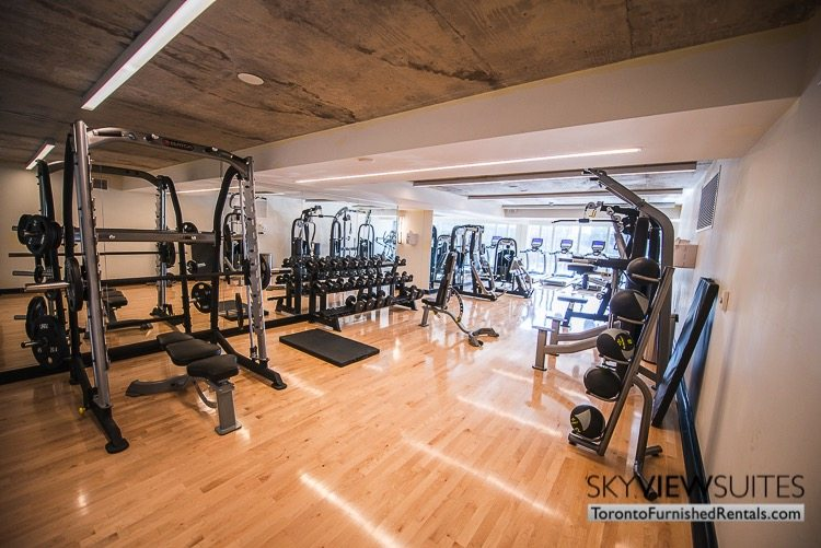 King west corporate rentals toronto fitness centre