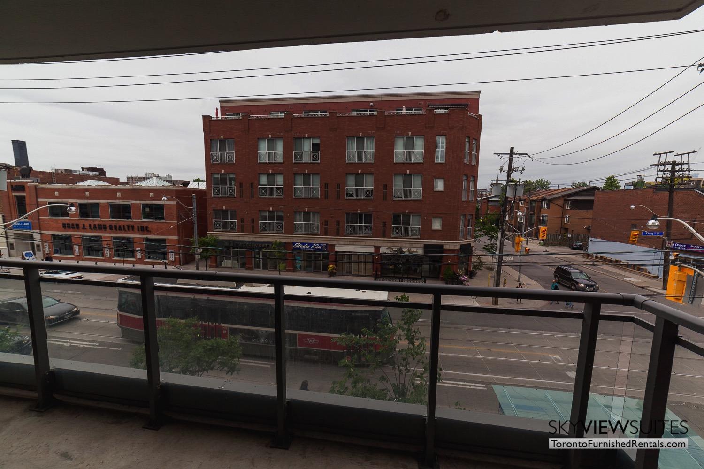 King west corporate rentals toronto balcony view