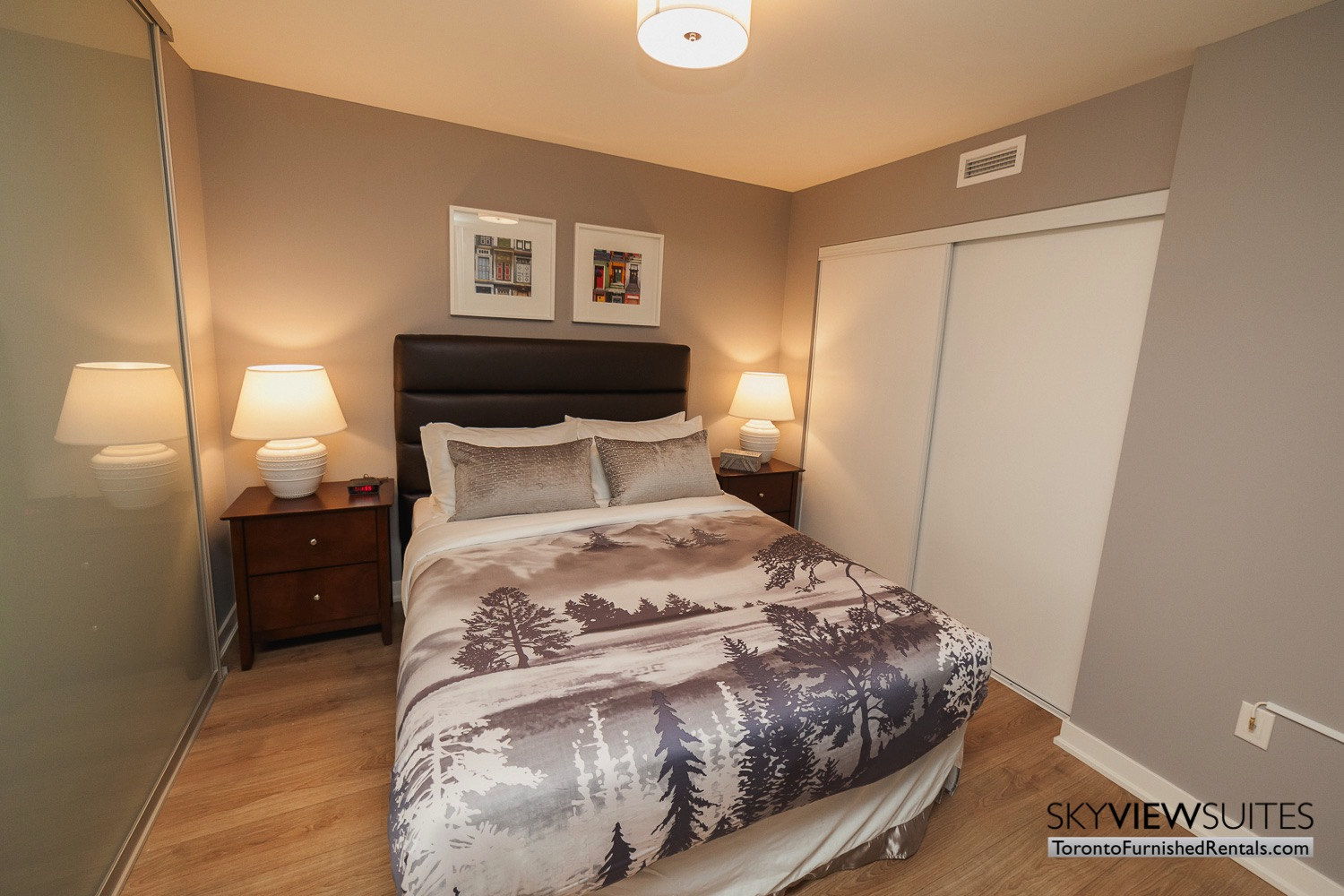 King west corporate rentals toronto bedroom