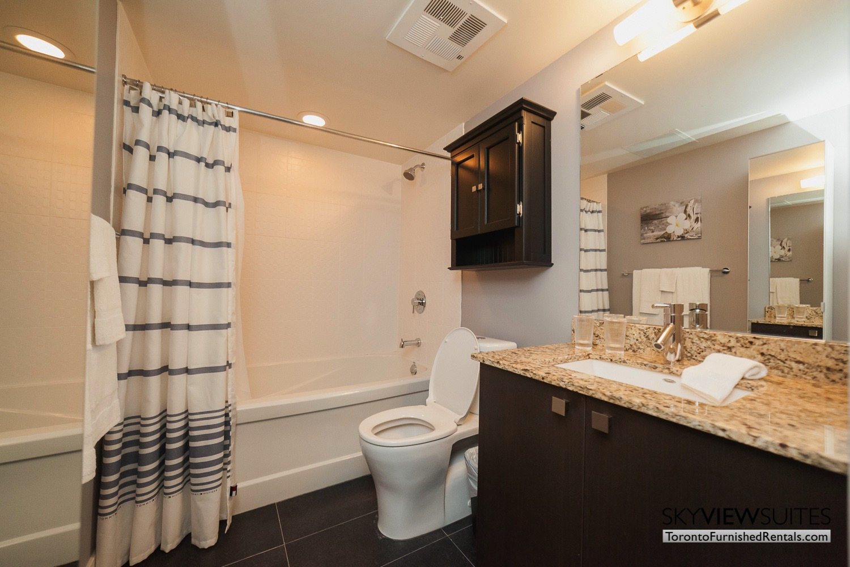 King west corporate rentals toronto washroom