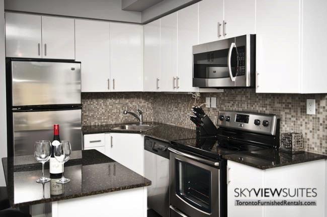LTD corporate rentals toronto kitchen