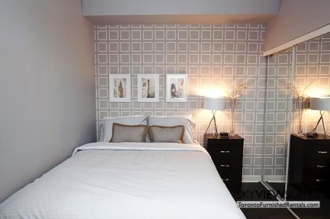 LTD corporate rentals toronto bedrom beige walls
