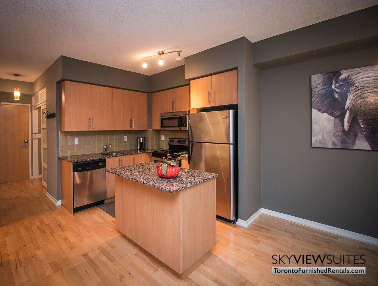MLS furnished condo toronto kitchen