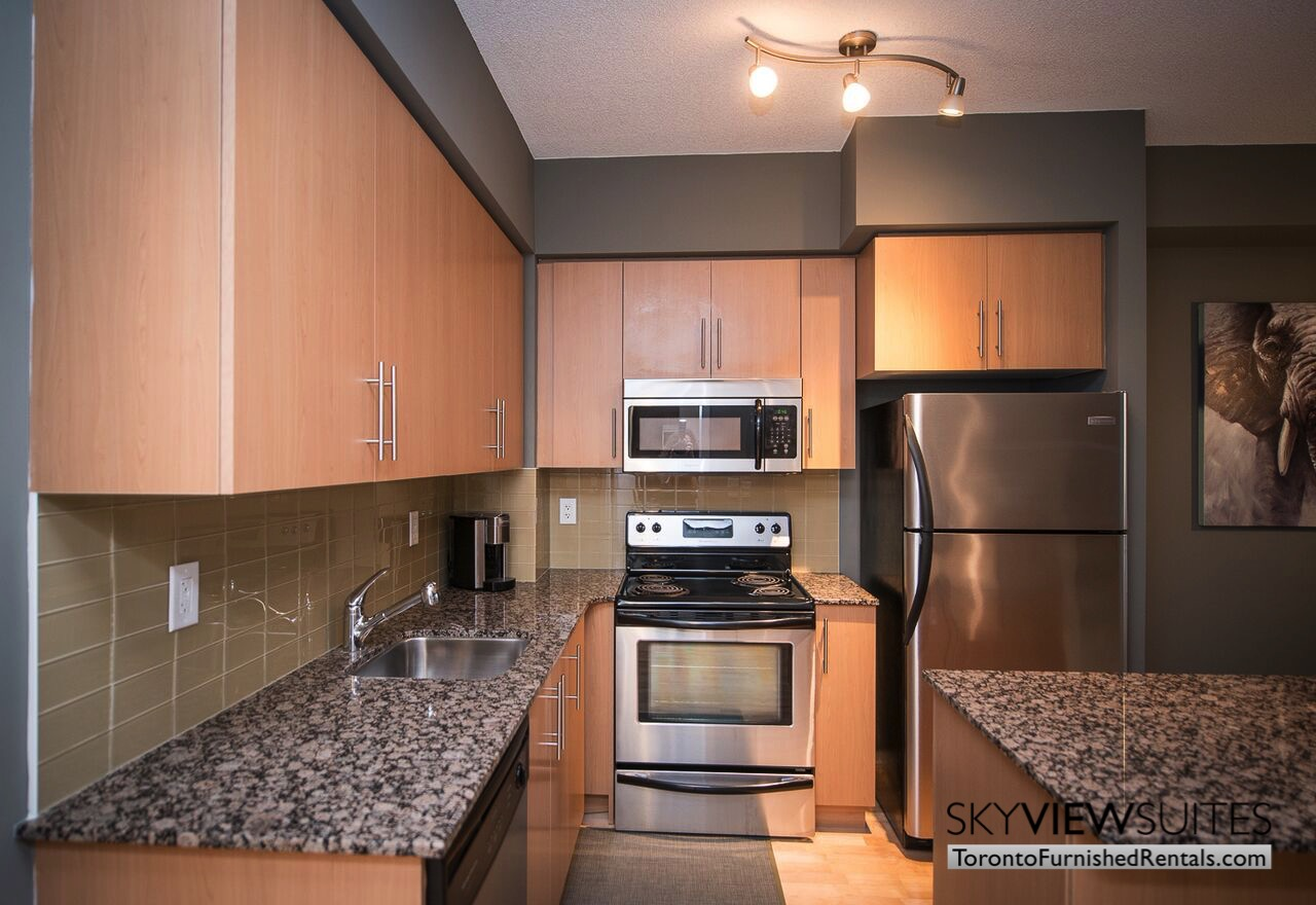 MLS furnished condo toronto kitchen