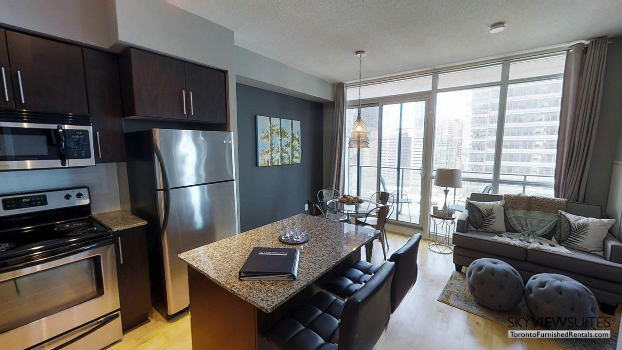 MLS serviced apartments toronto kitchen