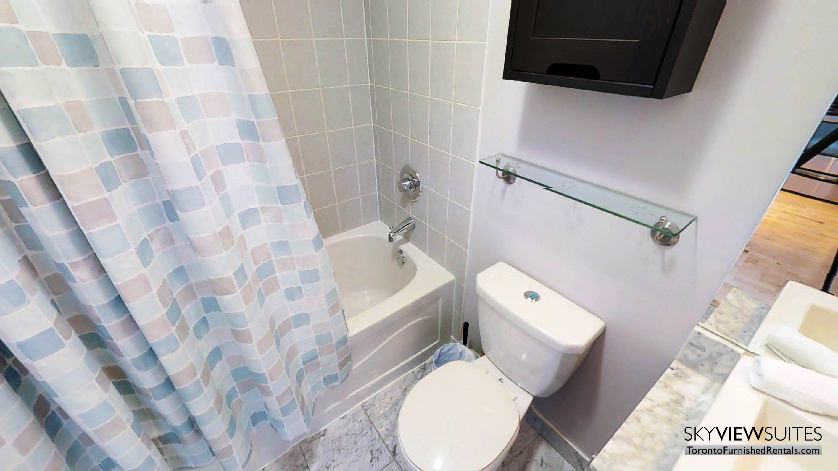 MLS serviced apartments toronto bathroom
