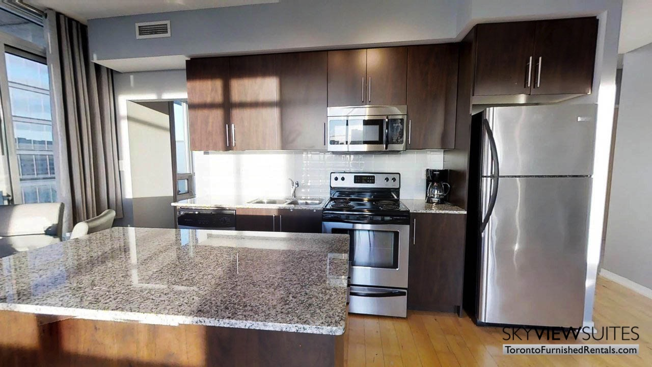 furnished rentals toronto york and bremner kitchen