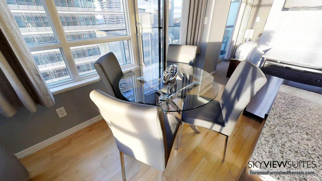 furnished rentals toronto york and bremner table