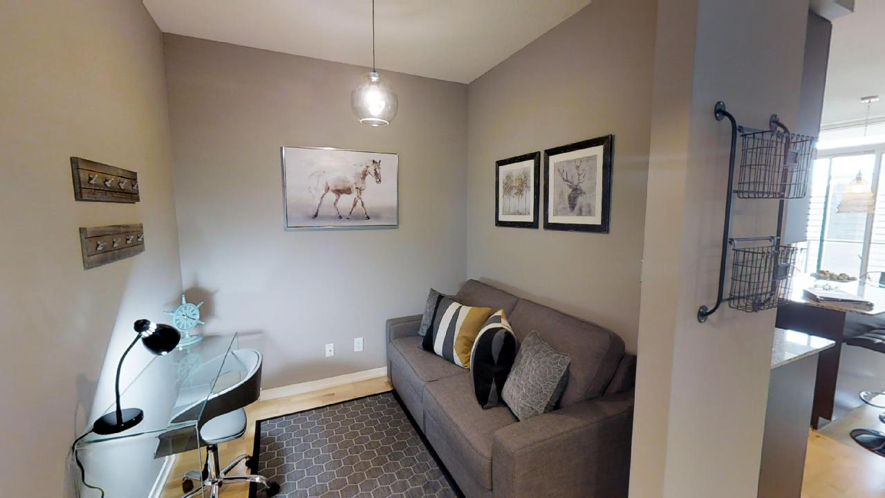 Maple Leaf Square toronto furnished apartment couch