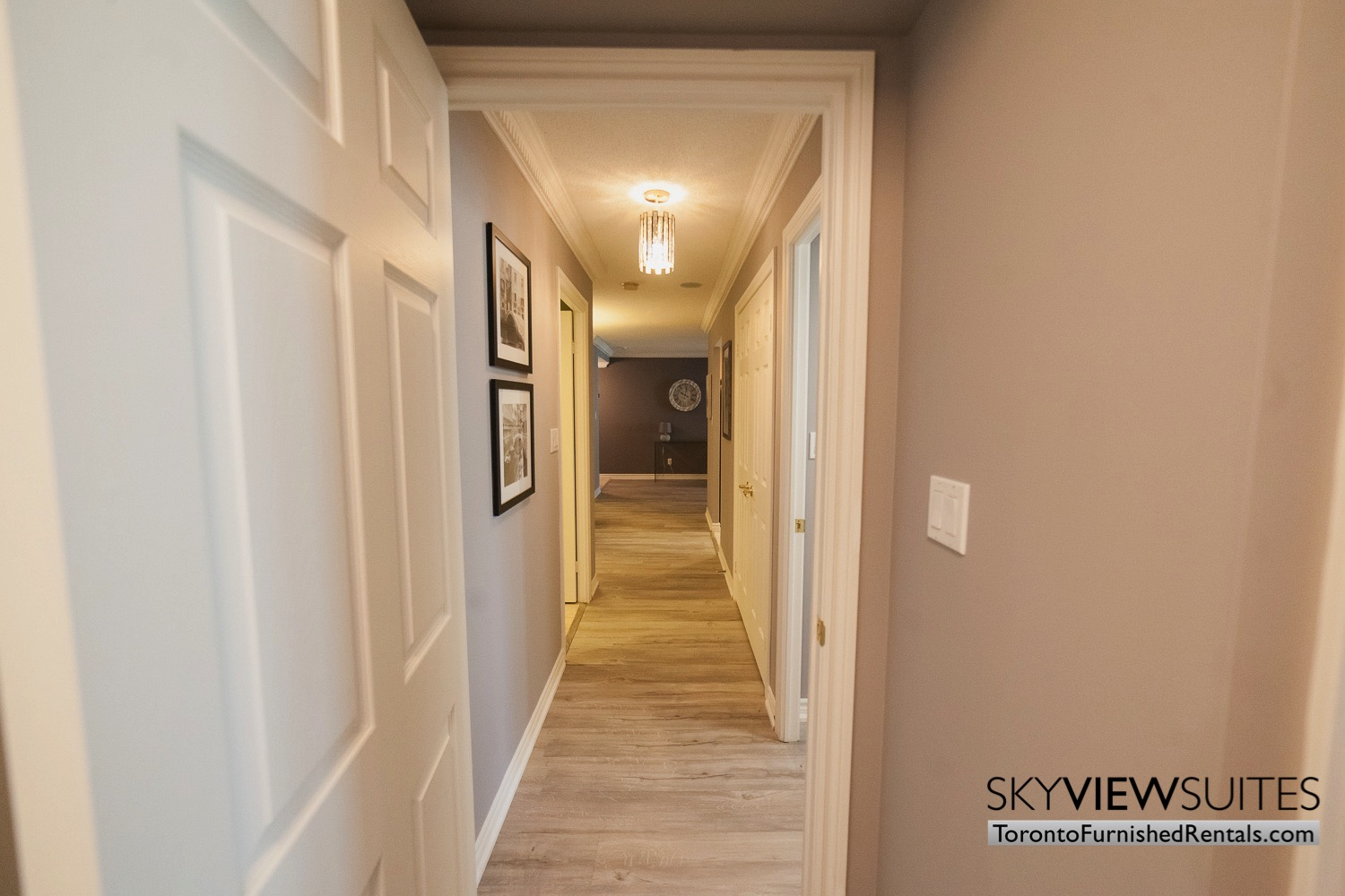 Qwest executive rental Toronto hallway