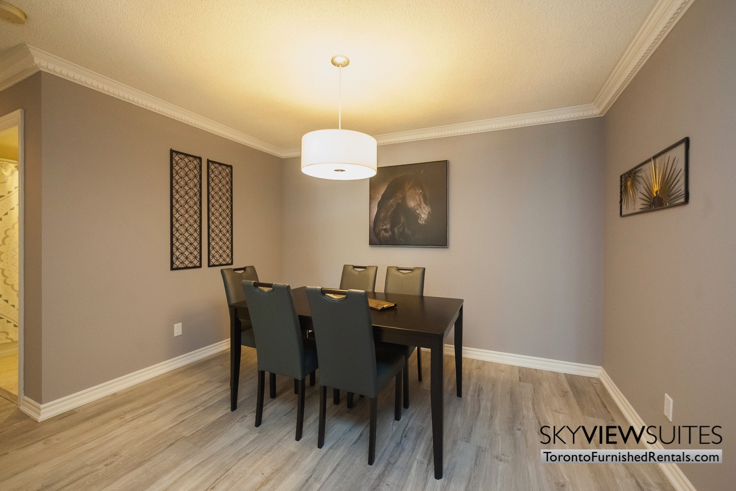 Qwest executive rental Toronto dining room table