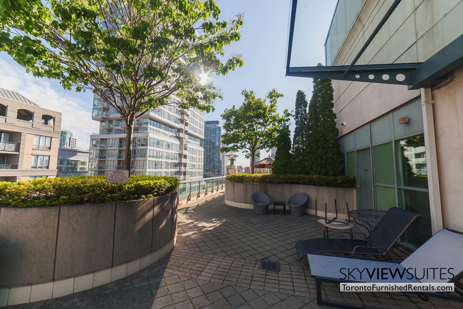 Qwest executive rental Toronto rooftop patio