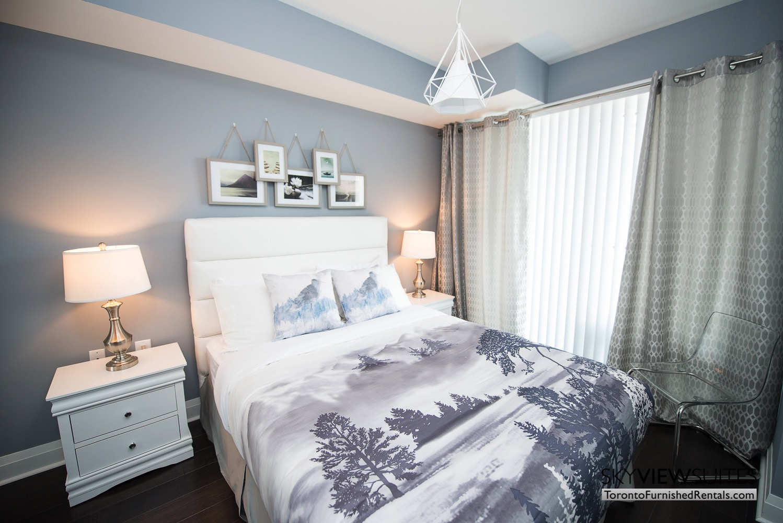 furnished apartments toronto Varsity art bedroom
