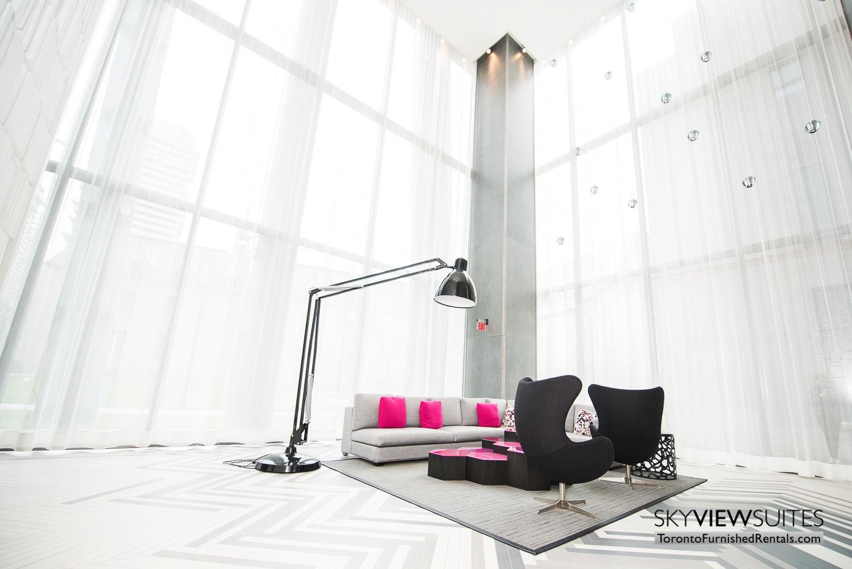 furnished apartments toronto Varsity lobby