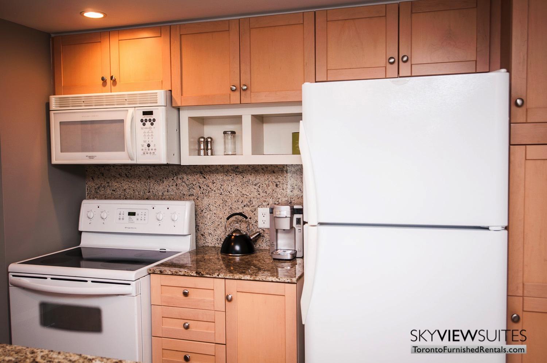 furnished rentals toronto waterfront kitchen