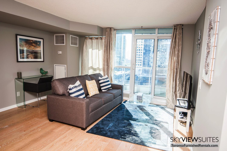 furnished rentals toronto waterfront blue rug