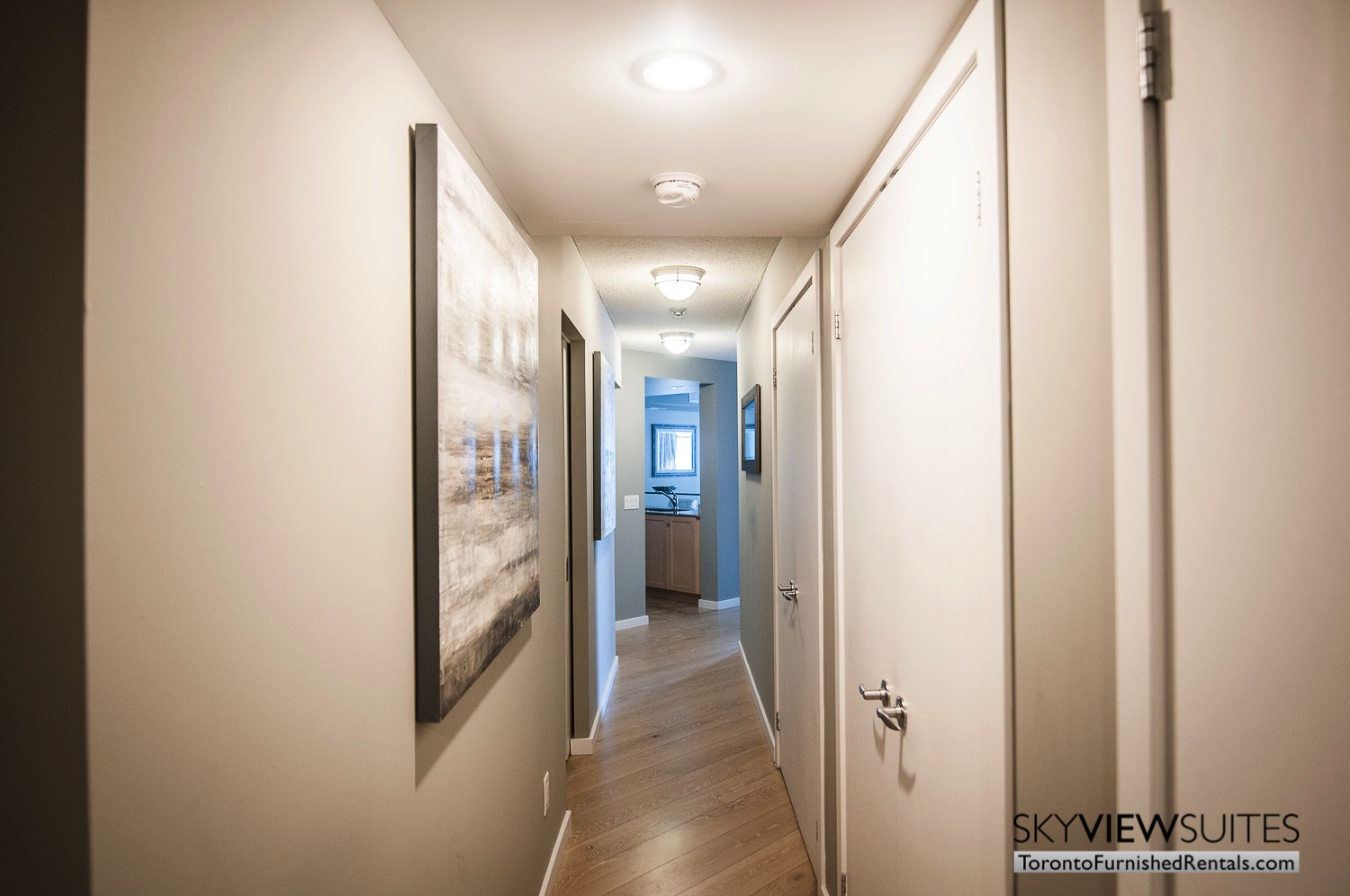 furnished rentals toronto waterfront hallway