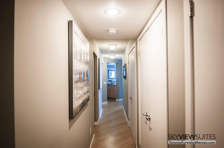 furnished rentals toronto waterfront hallway
