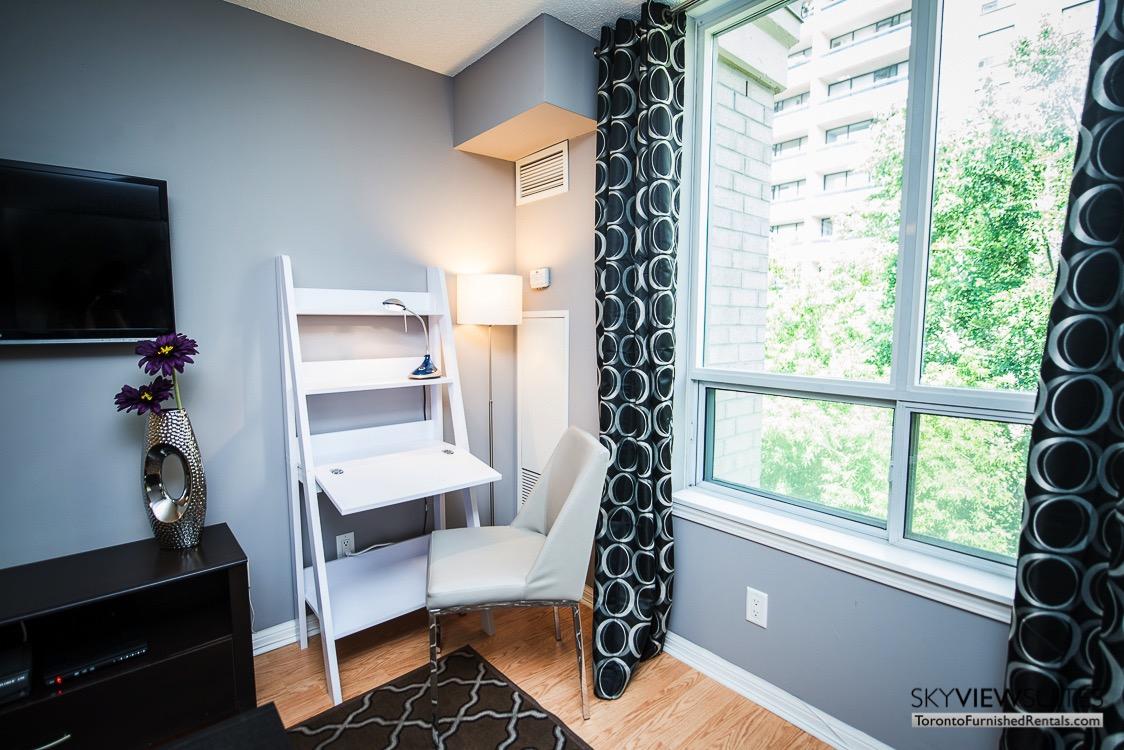 5940 Yonge Street furnished apartment toronto desk