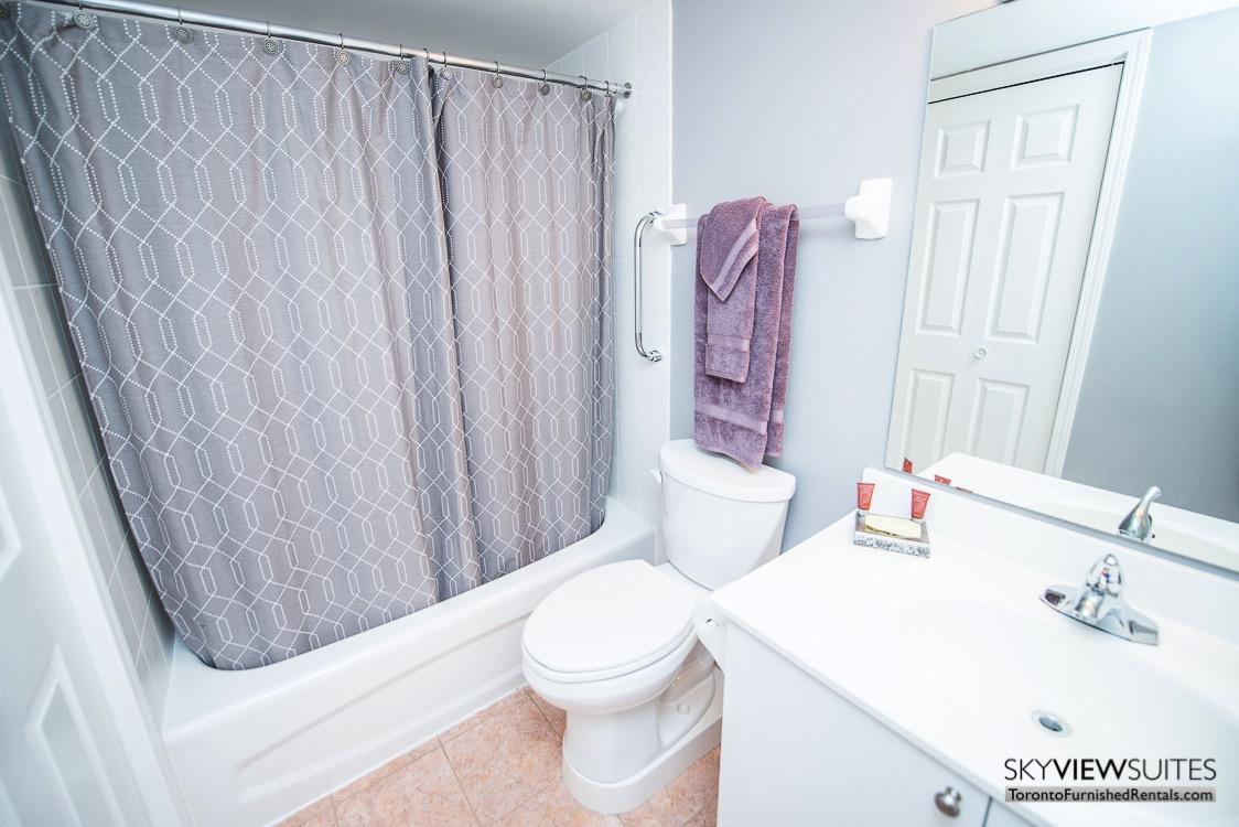 5940 Yonge Street furnished apartment toronto bathroom