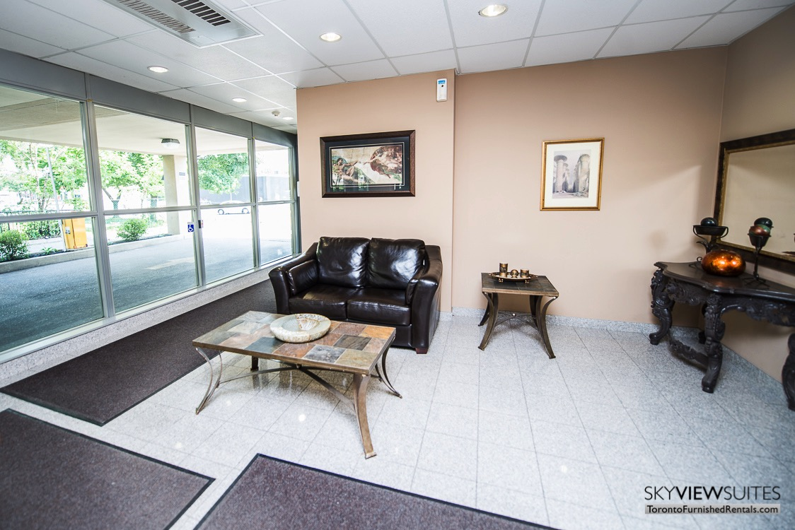 5940 Yonge Street furnished apartment toronto foyer