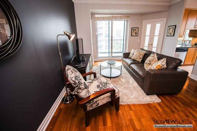 furnished rentals toronto lakeshore west couch and television