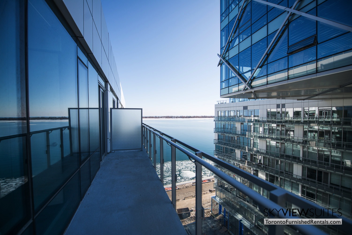 executive rentals toronto 39 Queens Quay balcony