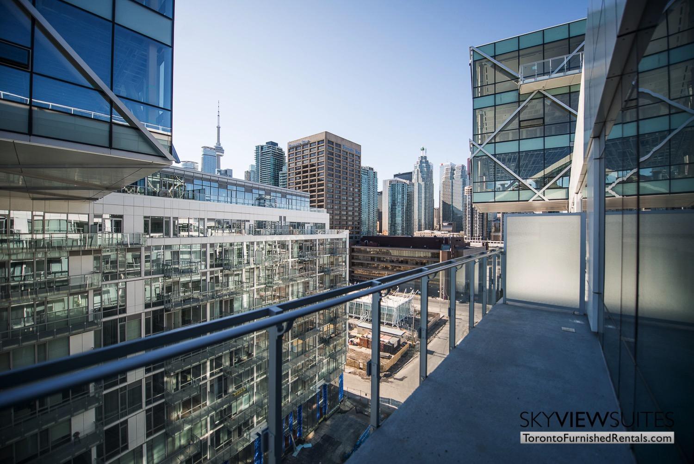 executive rentals toronto 39 Queens Quay balcony