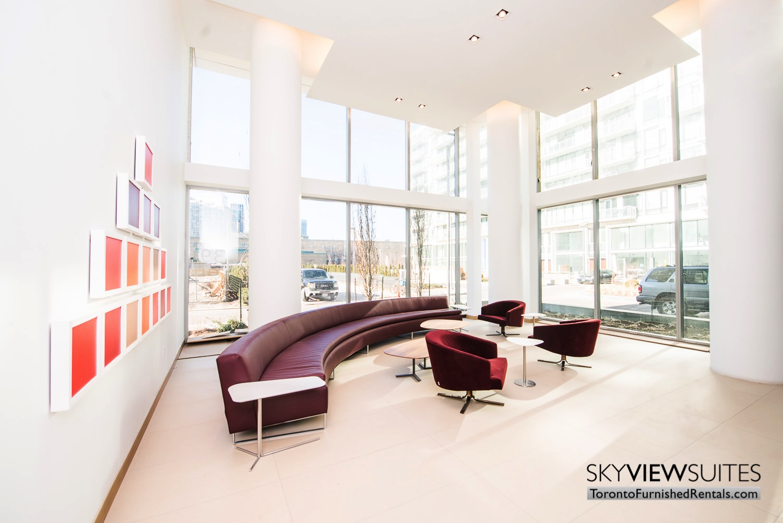 executive rentals toronto 39 Queens Quay lobby