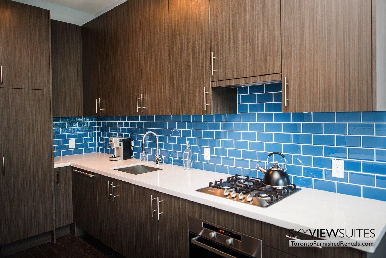 executive rentals toronto 39 Queens Quay kitchen