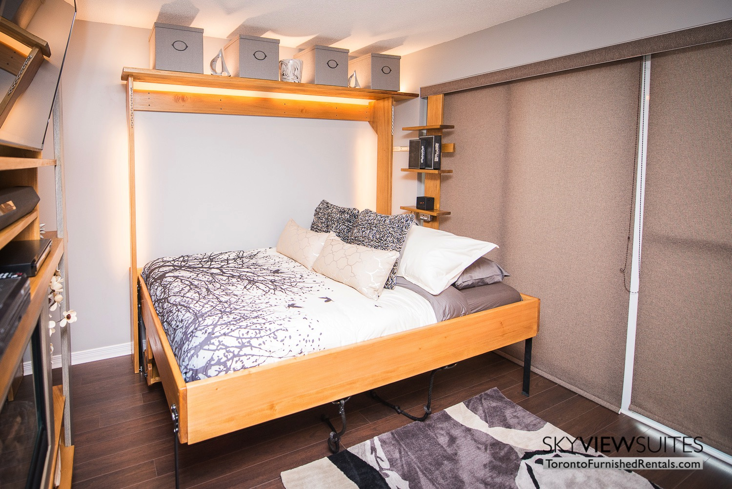 352 Front St. W., Toronto furnished rental bedroom murphy bed