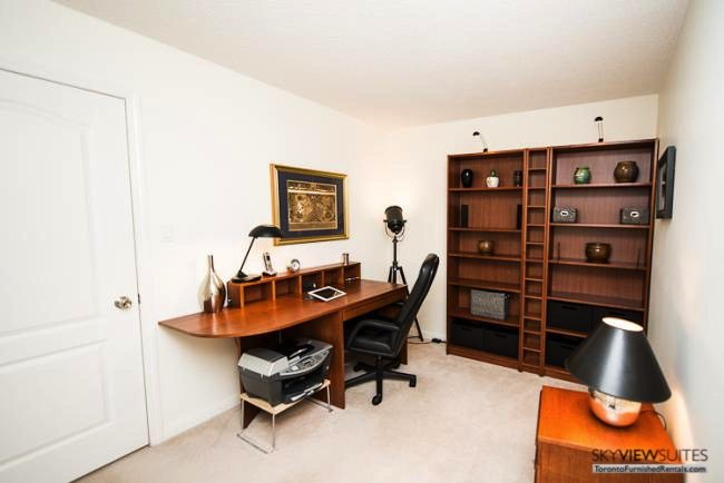 Liberty Village serviced apartments toronto living room office