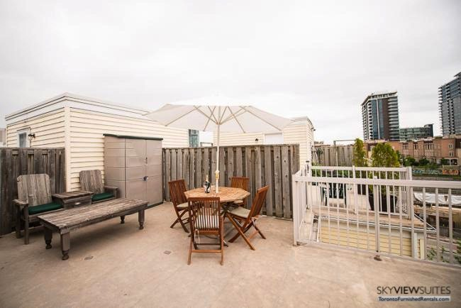 Liberty Village serviced apartments toronto rooftop terrace
