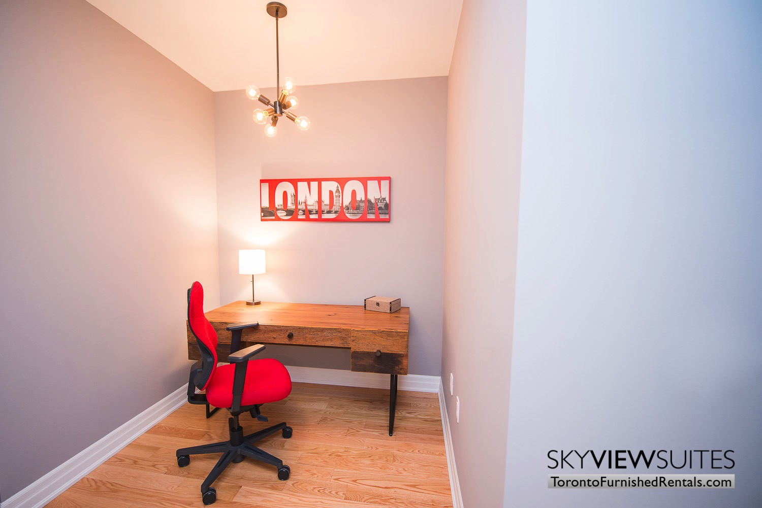 red poster office Yonge & Front serviced apartments toronto
