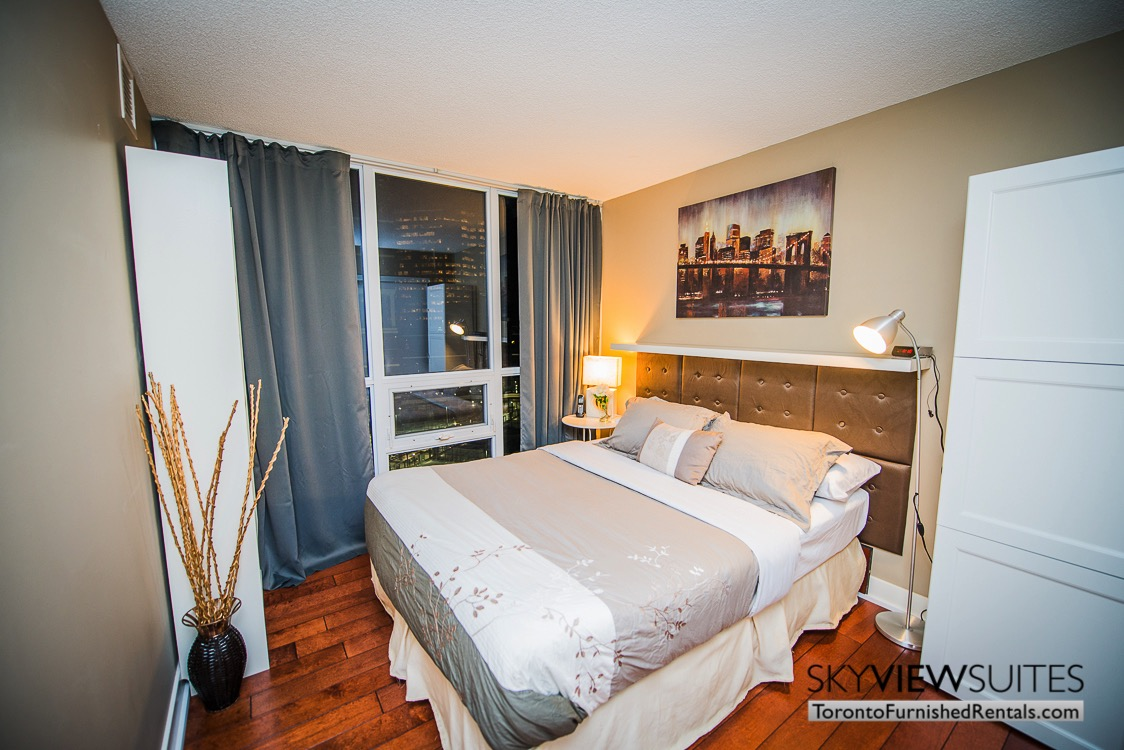 Yonge and Sheppard serviced apartments toronto bedroom