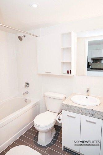 Leslie and Sheppard furnished suites toronto bathroom