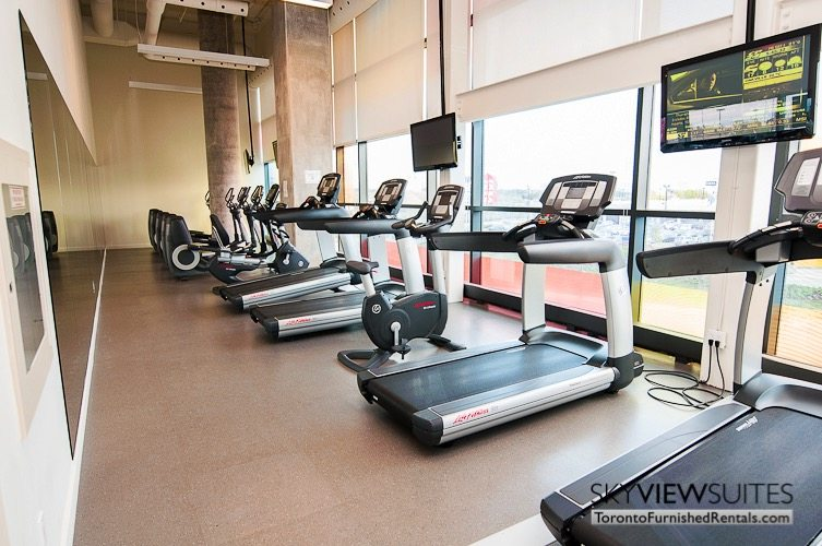 Leslie and Sheppard furnished suites toronto gym
