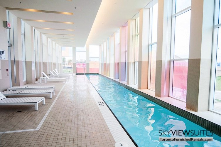 olympic pool at Leslie and Sheppard furnished suites toronto