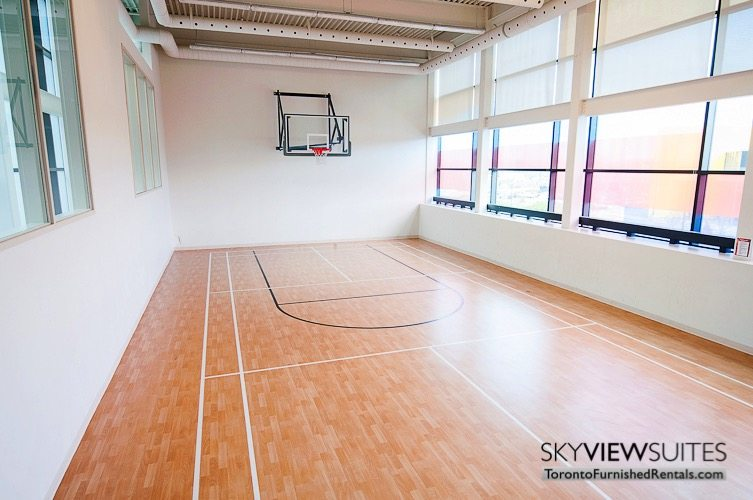 backestball at Leslie and Sheppard furnished suites toronto
