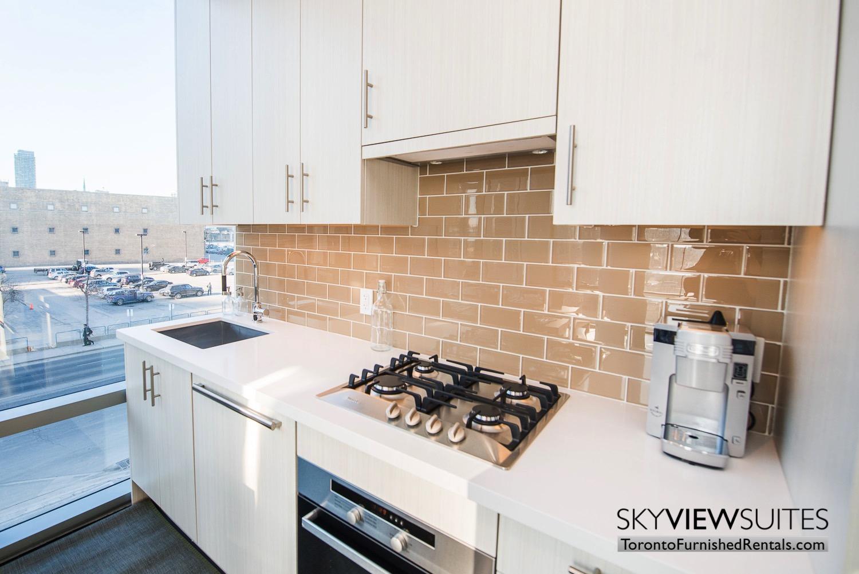 kitchen in 39 Queens Quay toronto corporate housing