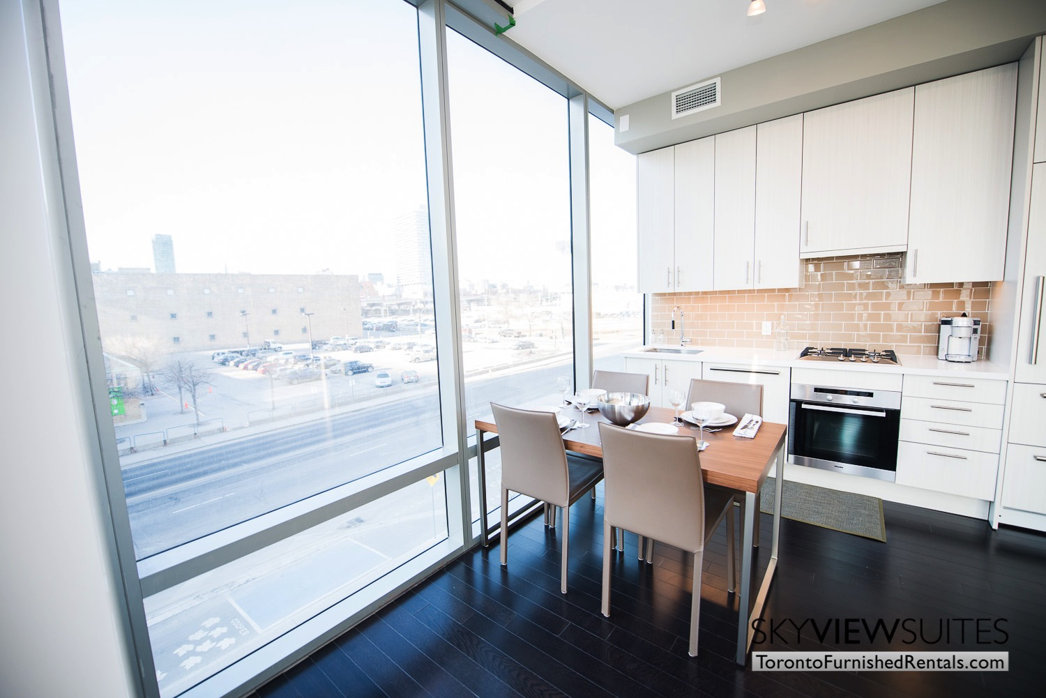 kitchen in 39 Queens Quay toronto corporate housing