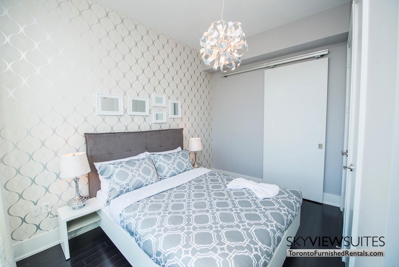 39 Queens Quay toronto corporate housing silver bedroom