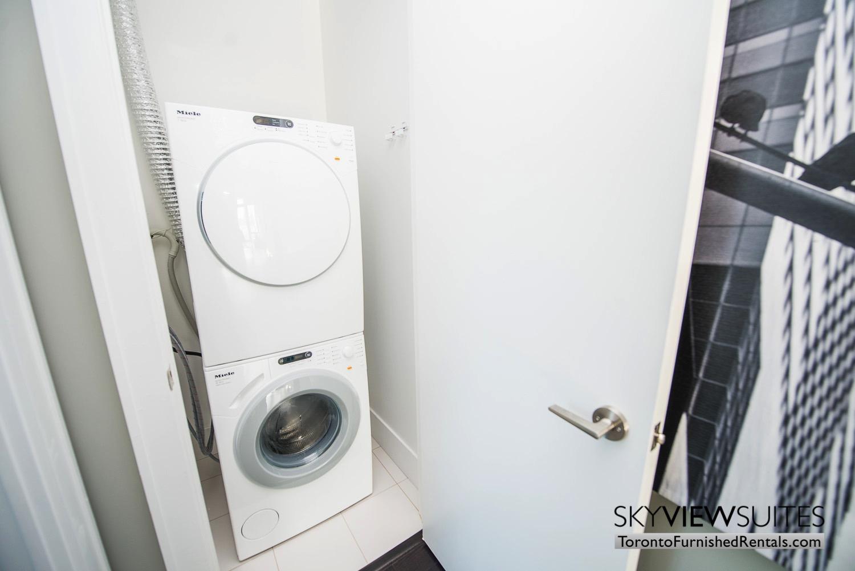 39 Queens Quay toronto corporate housing washing machine and dryer