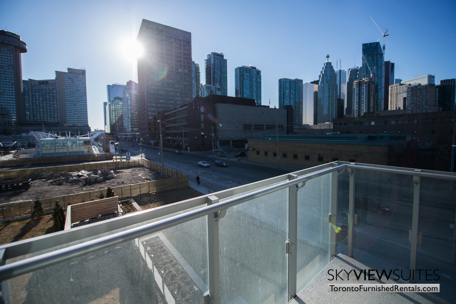 39 Queens Quay toronto corporate housing balcony
