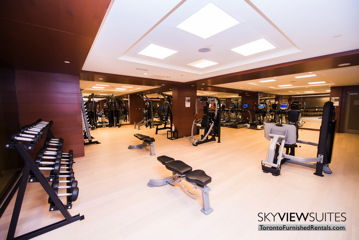gym in 39 Queens Quay toronto corporate housing