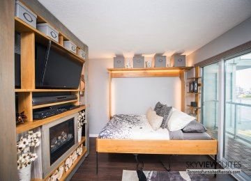 352 Front St. W., Toronto furnished rental bedroom