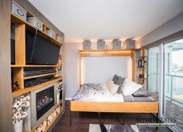 352 Front St. W., Toronto furnished rental bedroom