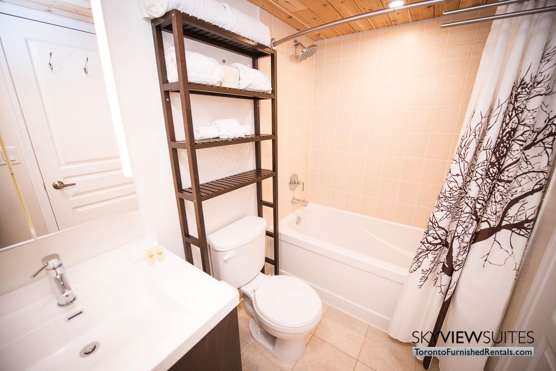 352 Front St. W., Toronto furnished rental bathroom