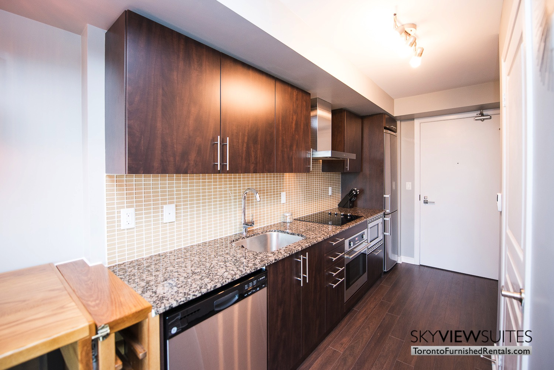 352 Front St. W., Toronto furnished rental kitchen