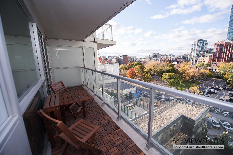352 Front St. W., Toronto furnished rental balcony view